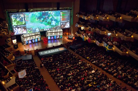 "A packed Benaroya Hall is pictured during ""The International"" Dota 2 video game competition in Seattle"